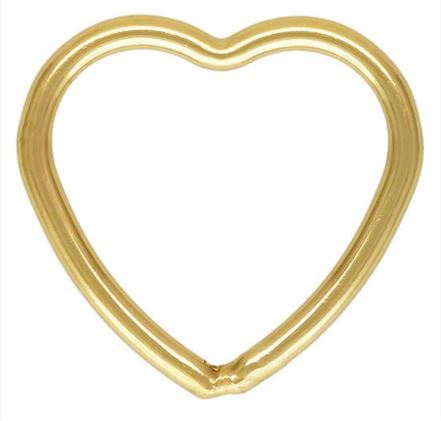 10mm Gold Filled Heart Jump Ring Closed