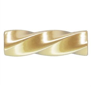 1.5x5mm Gold Filled Twisted Spacer Tube Beads