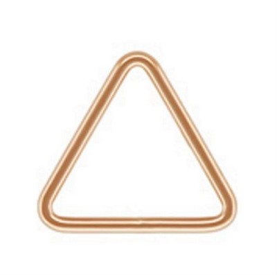 35mm Rose Gold Filled 20 Gauge Triangle Ring Closed