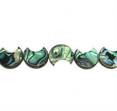 "14mm Abalone Shell Crescent Beads - 16"" strand"