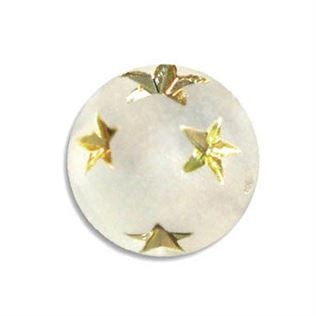 8mm Gold Star Round Beads - Crystal