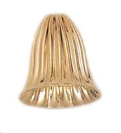 11.4x9.5mm Gold Filled Corrugated Cap Beads - 14kgf