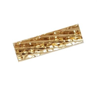 10x4mm Gold Filled Twisted Hammered Tube Beads 14/20kt.