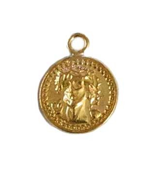 9mm Gold Filled Jesus Face Charm - Double Sided