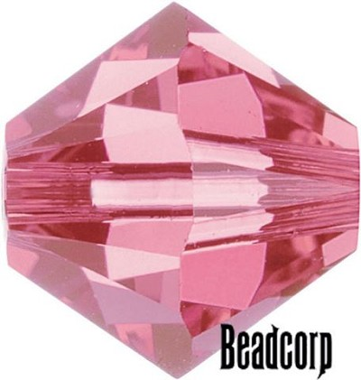 Swarovski 5301 / 5328 Bicone Beads - Rose