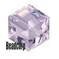 Swarovski 5601 Cube Crystal Beads - Light Amethyst