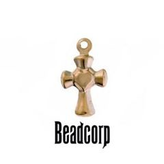 12x7mm Gold Filled Cross Charm