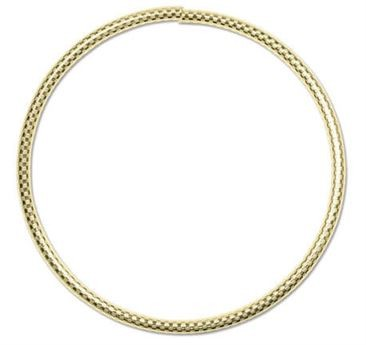 GOLD FILLED FLEX TUBE BRACELETS Â• 3mm x 2.5 inches - Checkboard