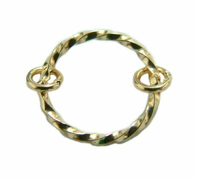 8mm Gold Filled Twisted Jump Rings