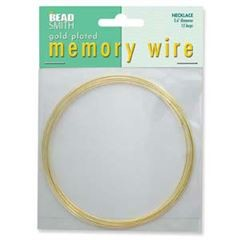 Gold Memory Wire Necklace 12 turns
