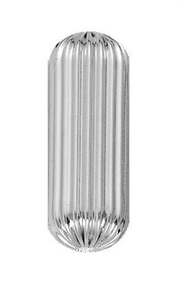28x15 Sterling Silver Large Corrugated Drum
