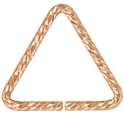 10mm Rose Gold Filled Triangle Sparkle Jump Ring - 25 pcs.