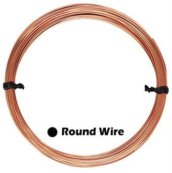 26 Gauge Wire >> 26 Gauge Rose Gold Filled Round Wire 1oz