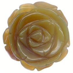 35mm Wooden Agate Rose Bud Pendant  *** Clearance ***